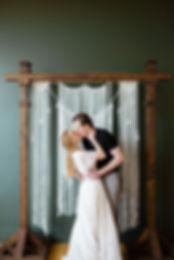 white macrame backdrop