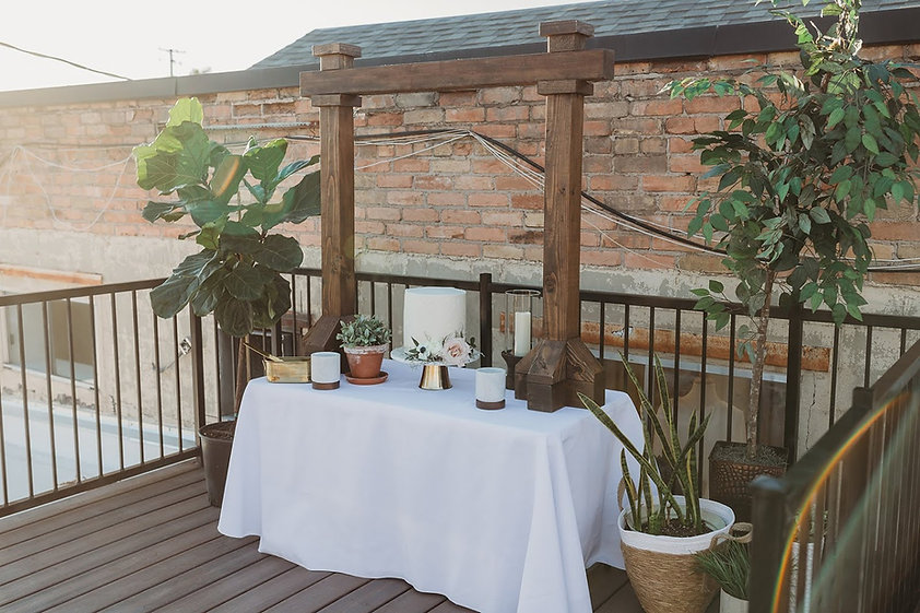 wood table arbor