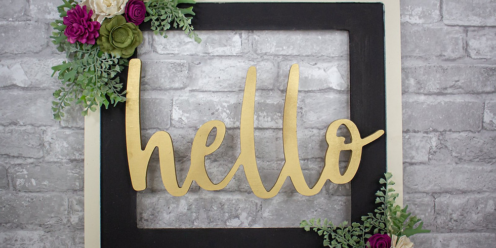 Hello Frame with Sola Wood Flowers