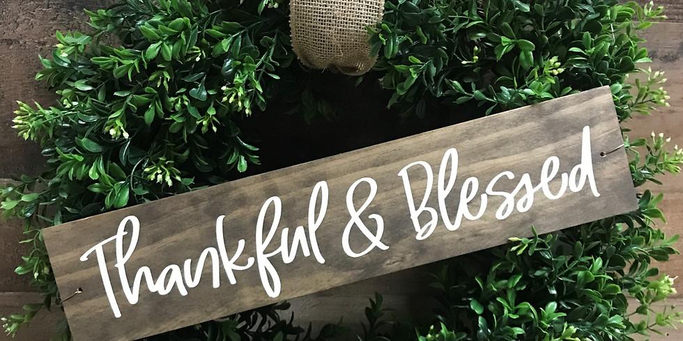 Sign & Boxwood Wreath Workshop