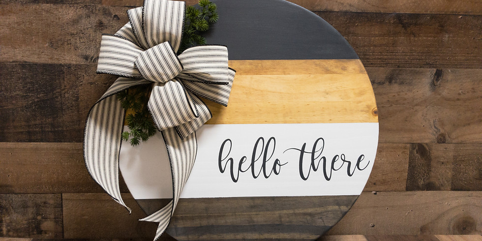 Hello There Round Door or Wall Sign