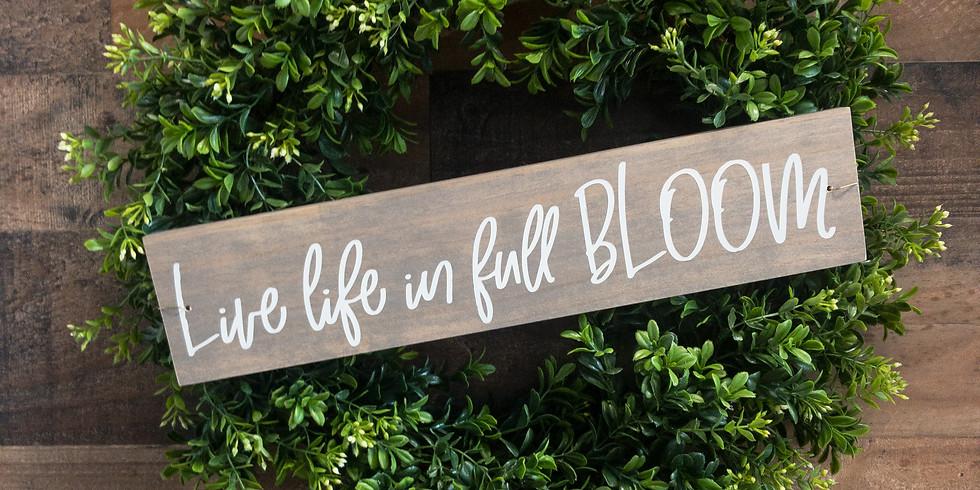 Sign & Boxwood Wreath Workshop (August)