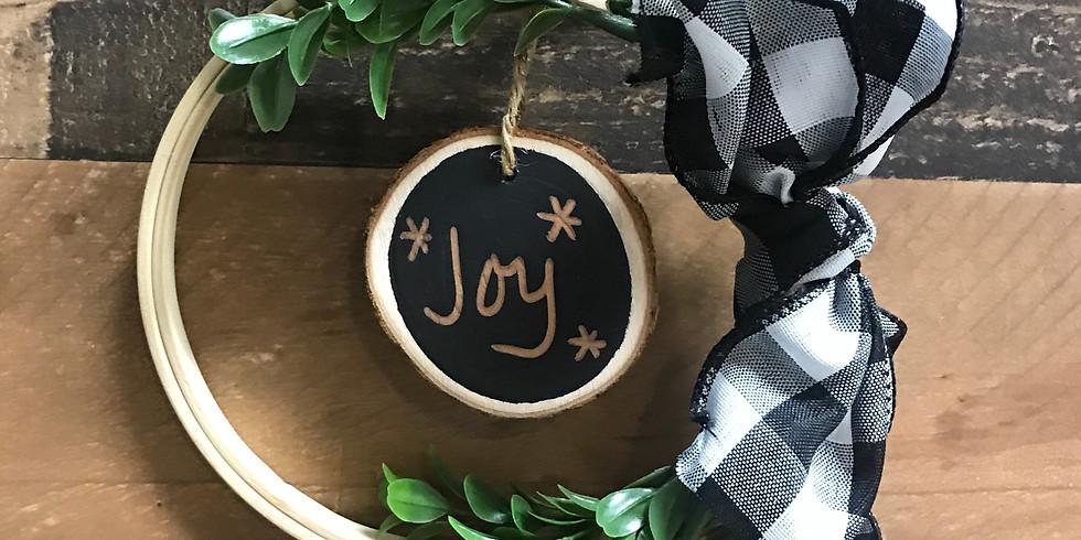 Make & Take Mini Embroidery Hoop Wreath Workshop