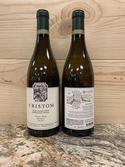 2019 Cristom, Pinot Gris, Willamette Valley