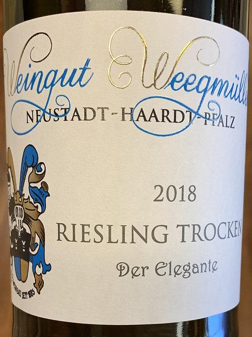 """2018 Weegmuller, Trocken """"Der Elegante"""", Riesling, Pfalz"""