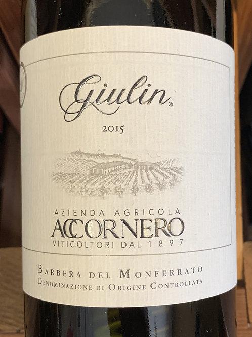 """2015 Accornero """"Giulin"""", Barbera del Monferrato, Piedmont"""