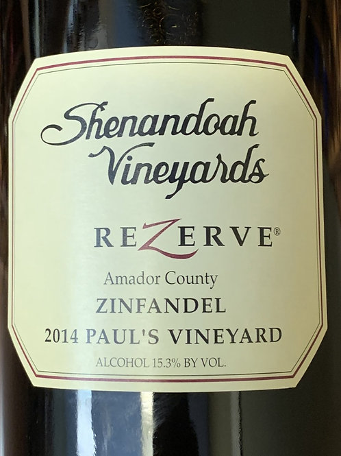 2014 Shenandoah, Paul's Zinfandel, Amador