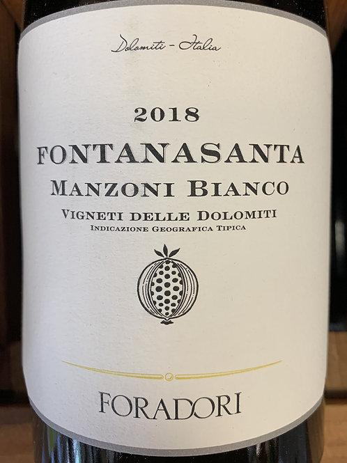 2018 Foradori, Manzoni Bianco, Dolomites