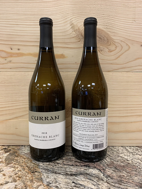 2018 Curran, Grenache Blanc, Santa Barbara
