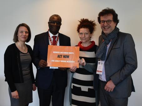 Des représentants de l'Initiative pour un devoir de vigilance ont rencontré Dr. Denis Mukwege