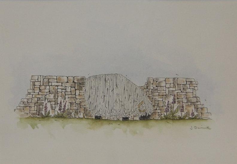 'Sheep' - Original Watercolour - framed