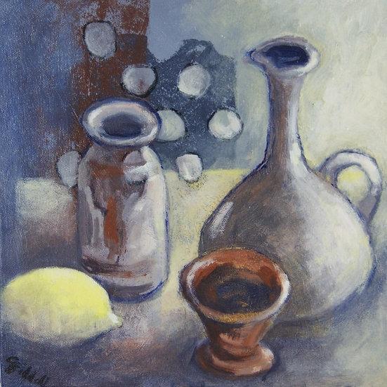 Still Life Original Oil box canvas