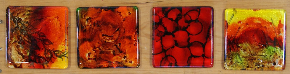 Alcohol Ink Glass Coasters