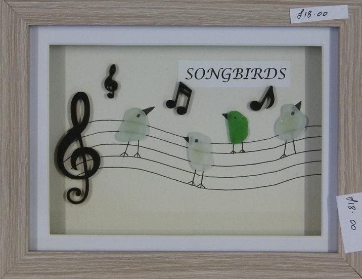 'Songbirds'  pebble picture