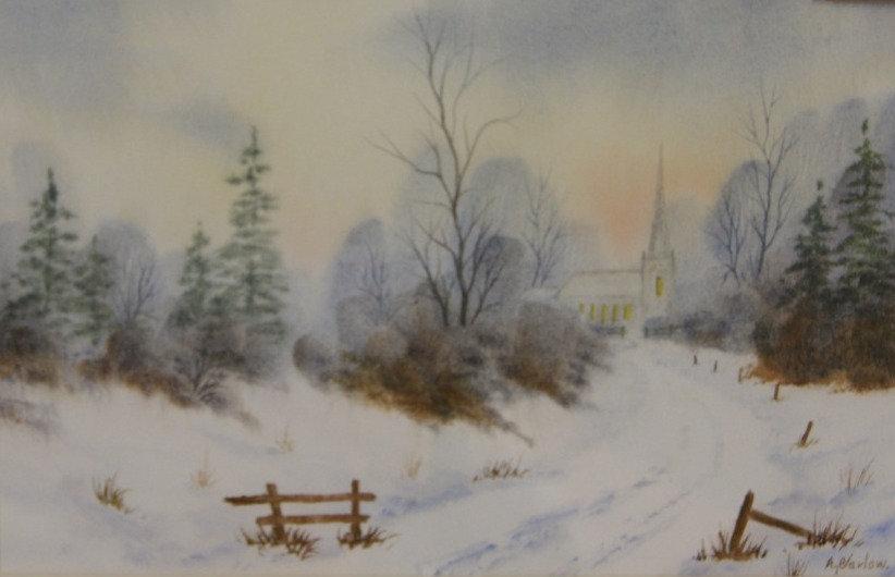 'Evening' - original watercolour - framed