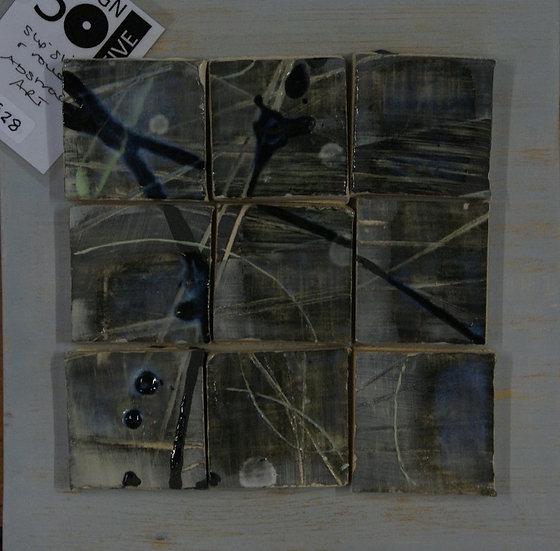 squares ceramic plaque