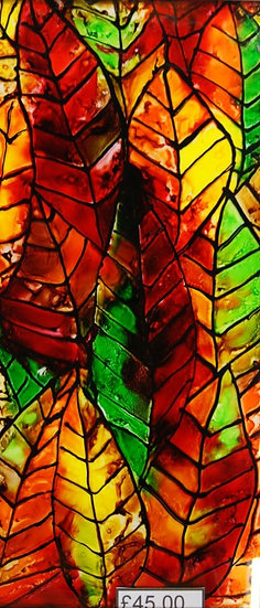 Alcohol Ink Art on Glass
