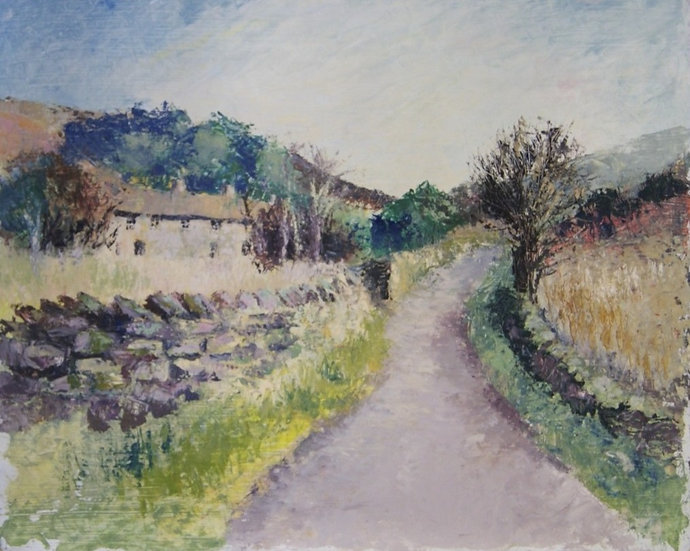 Old Glossop - oil on board