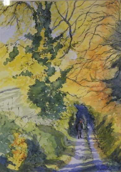 Autumn Days - Original Watercolour (framed)