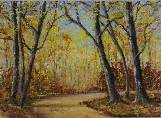 'Autumn Glow'  ... an original framed oil