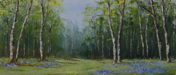 'Bluebell Wood' Original Oil - framed