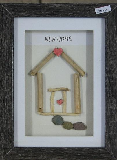 Framed original pebble artwork