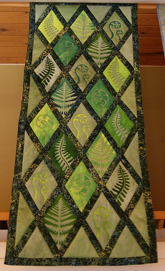 """Ferns""  Quilted Wall Hanging"