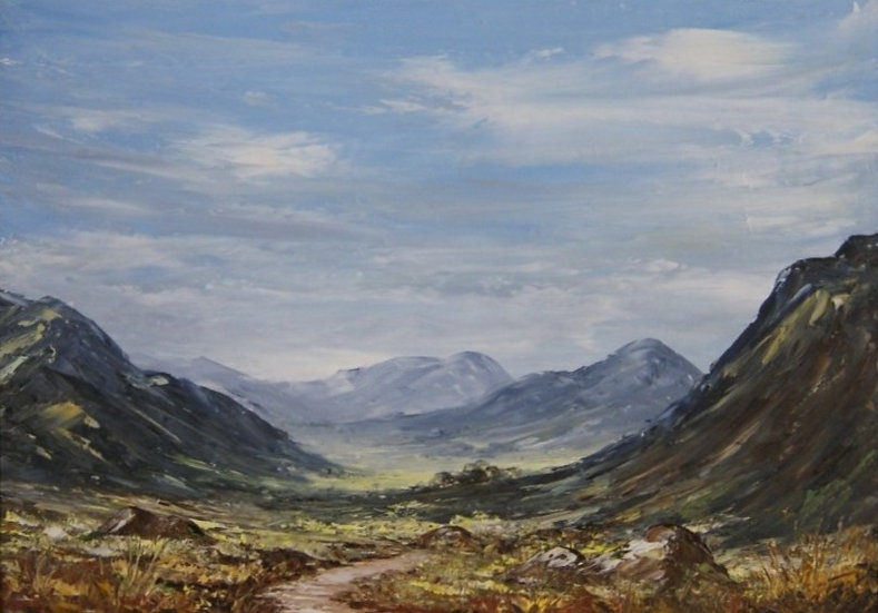 Llyn Ogwen - Wales - an original framed oil