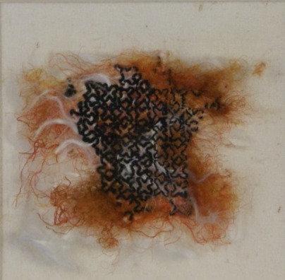 Blackwork Original Embroidery - framed