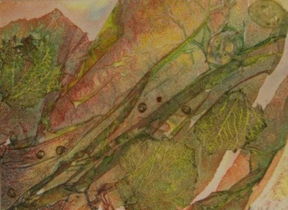 Mixed media framed painting