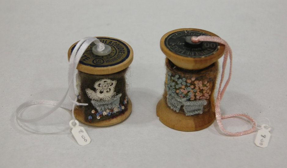 Embroidered cotton reels