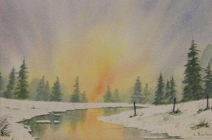 'Pinewood' Watercolour framed original