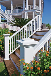 Custom Composite Deck Stairs and Railings