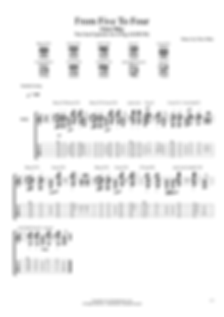 CHRIS MIKE-From Five To Four INTRO TAB.p