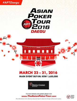 Asian Poker Tour 2016 DAEGU