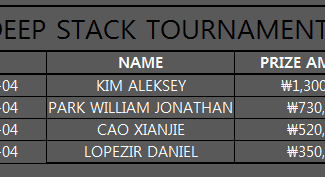 THE DEEP STACK TOURNAMENT