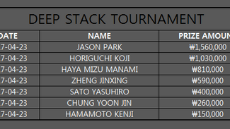 DEEP STACK TOURNAMENT