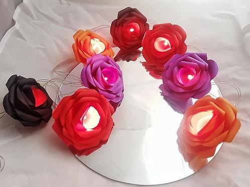 Gretel - Halloween fairy lights, Paper flower decorations, Halloween decorations