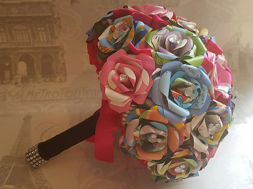 Minnie - Bridal bouquet, Upcycled children's book, Paper flowers
