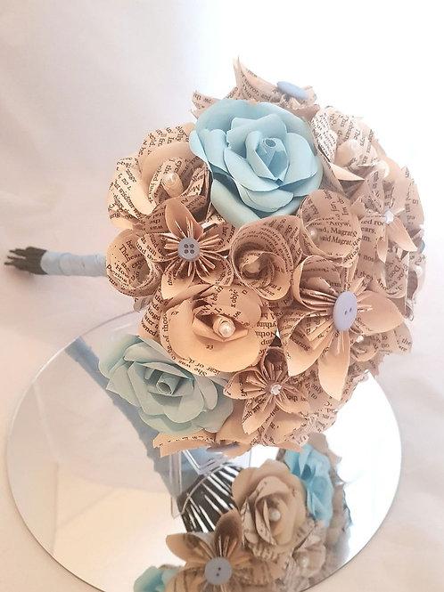 Noelle - Winter paper flower bouquet, Frozen paper flowers, Winter bouquet