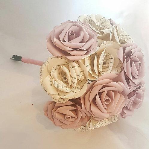 Chloe - Blush pink bridal bouquet, book rose flowers