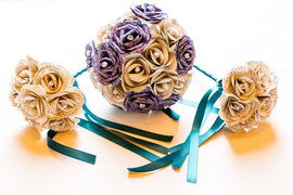 Tartan and book bouquets