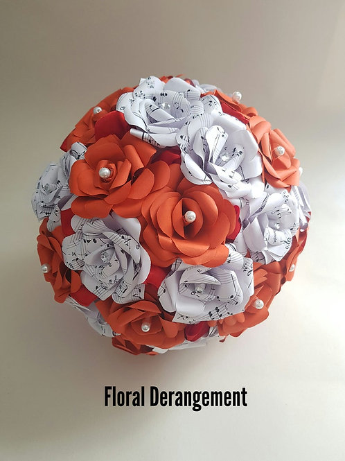 Annie - Songsheet bridal bouquet, Alternative wedding flowers