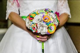Rainbow bridal flowers
