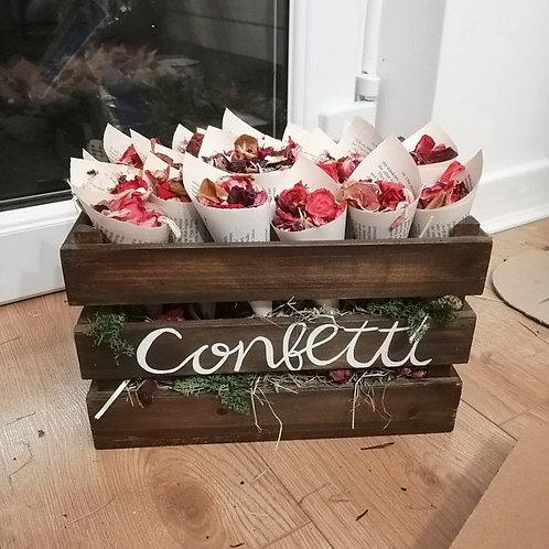 25 Confetti cones, Book page cones, Wedding confetti, Petal cones