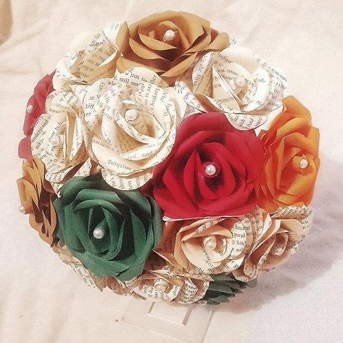 Ivy - Autumn wedding bouquet, Bridal paper flowers, Fall wedding