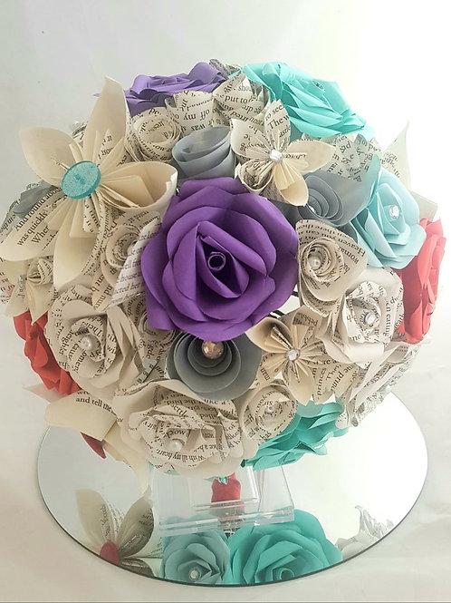 Ariel - Ariel paper flowers, bridal bouquet, fairytale wedding