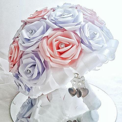 Paris - Traditional white bridal bouquet, Paper wedding flowers