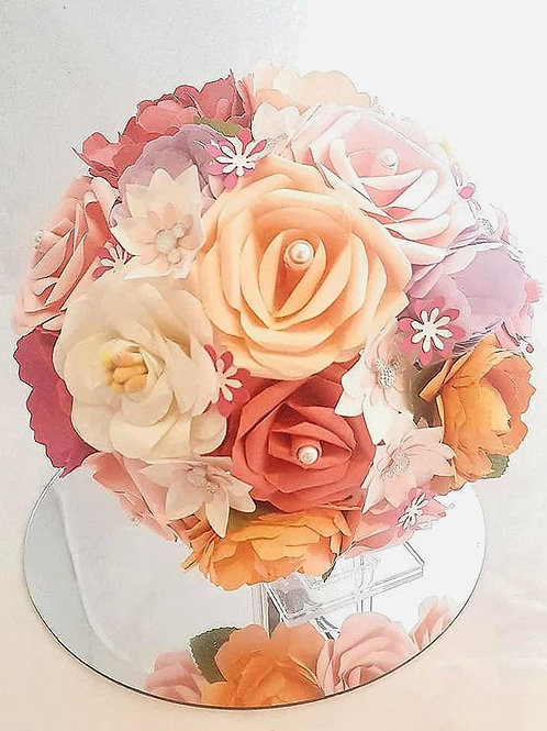 Summer - Wildflower paper bouquet, Spring bridal bouquet,