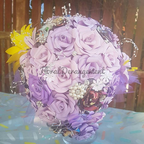 Eliza - Teardrop bridal bouquet, Cascading wedding flowers, Lilac bespoke